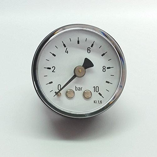 Manometer, NG40, 0-10bar, G1/8