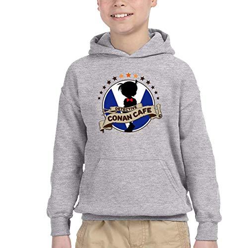 Girl Detective Conan Logo Durable Kangaroo Pocket Hoodies with Hat for Winter-4T
