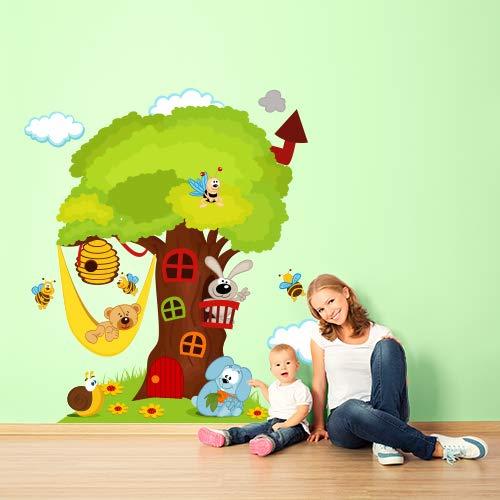 Pegatinas de pared para niños impreso en papel pintado Wall Art 'La Casita En El Árbol 120x 84cm