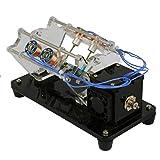 chiwanji Modelo de Motor de Electroimán V Tipo Motor de Coche Modelo de Física Juguete Creativo - 4 bobinas
