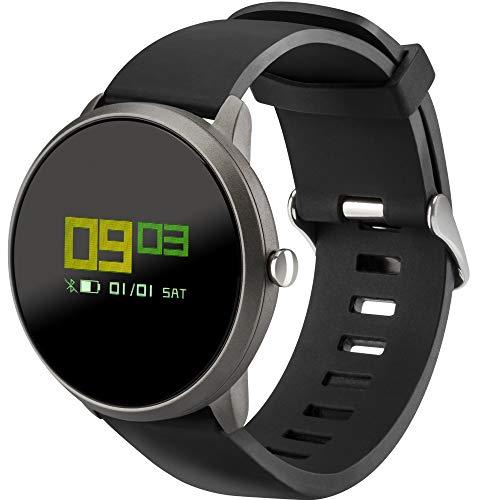 acme SW101 Smartwatch Damen Rund Herren Armbanduhr Pulsuhr Damen Fitness Armband Fitness Tracker Sportuhr Bluetooth Schrittzähler Schlafüberwachung Wasserresistent