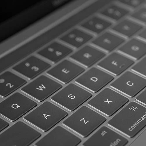 moshiClearguardMBwithTB2016-19(JIS)[日本語配列キーボード用]キーボードカバー(TouchBar搭載のMacBookPro13/15(2016年〜19年モデル)用)(注意:2020年モデルには未対応)製品登録で10年グローバル保証