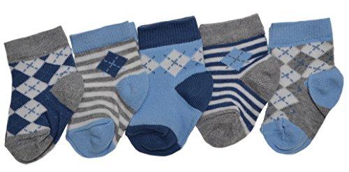 WB Socks 5 Paires de Chaussettes Bébé Garçon - Gamme de Pointures