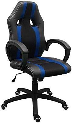 Regalos Miguel - Sillas Gaming - Silla Race - Azul y Negro