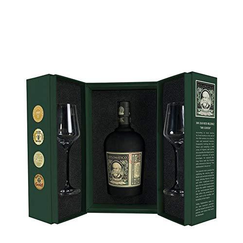 Diplomático Botucal Reserva Exclusiva Perfect Serve RITUAL Set Geschenk - Box 0,7 Liter + 2 Original Rum Gläser