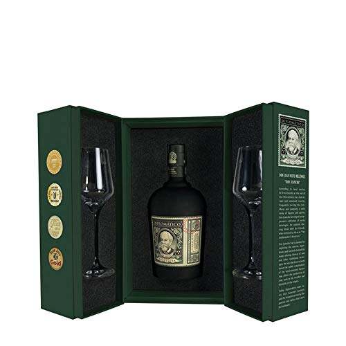 Diplomático Botucal Reserva Exclusiva Perfect Serve RITUAL Set Geschenk - Box 0,7 Liter + 2 Original Rum Gläser