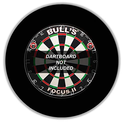 BULL'S Pro Dartboard Surround / Catchring / Auffangring / Wandschutz, schwarz