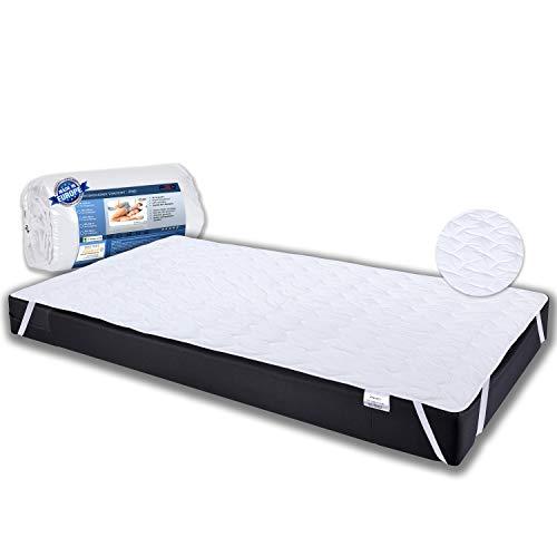 PHD Primera Matratzenschoner 120x200 cm auch für hohe Matratzen. 60°C waschbar für mehr Hygiene im Bett. Gestepptes Unterbett auch für Boxspringbetten, Topper und Wasserbetten