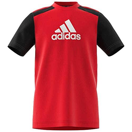 adidas T Shirt Bambino Rosso/Nero