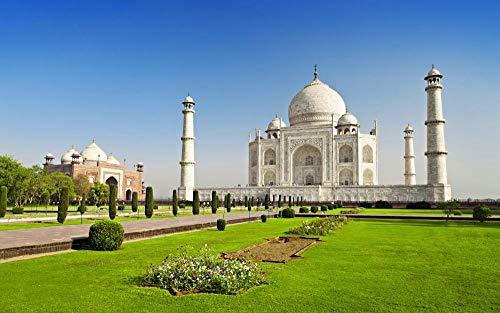 ZXSDFV Puzzle Adultos 1500 Piezas DIY Grande Wooden Jigsaw Puzzles Rompecabezas De Juguete Templo Taj Mahal, India Jigsaw Puzzle Juego Mental Regalo