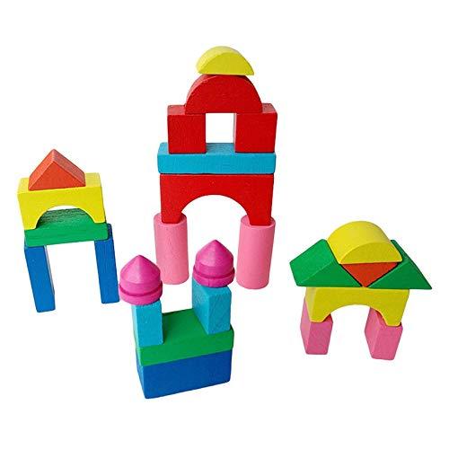 Hanks sklep drewniane mini zamki klocki geometryczne poznanie wczesna edukacja zabawki dla dzieci, zabawki intelektualnej