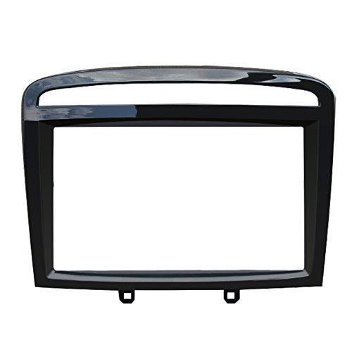 FEELDO Cadre de façade d'autoradio double DIN pour Peugeot 408 2013 - Kit de garniture de tableau de bord (A: 173 x 98 mm)
