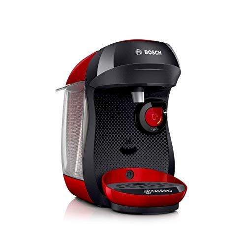 Bosch TAS1003 Tassimo Happy Kapselmaschine, über 70 Getränke, vollautomatisch, geeignet für alle Tassen, kompakte Größe, 1400 W, rot