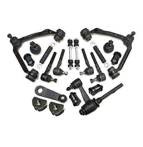 PartsW 20 Pc Front Suspension Kit for Ford Expedition F-150 F-250 Lincoln Navigator 4WD Models Idler and Pitman Arms Sway Bar Frame Bushings - 27mm (1.06 inch) Control Arm with Ball Joints Tie Rod End
