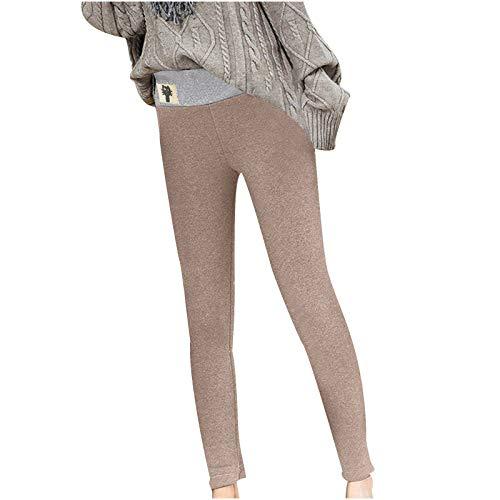 Eauptffy Damen Mädchen Leggings Herbst Winter Weiche Slim Leggings Hose Dicke Winter Warm Fleece-Futter Stretch Hüfthose Gamaschen Gefüttert Hosen Dicke Skinny Pants Bequeme Jogginghose