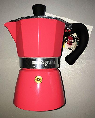 Klassiek Italiaans espresso-apparaat/espressomachine, roze, van TOGNANA