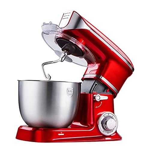 Frullatori Cucina Alta Capacità Da 5L, Robot Da Cucina Elettrico Multifunzione Con Molti Accessori, Goditi Più Tempo In Cucina (Color : Red)
