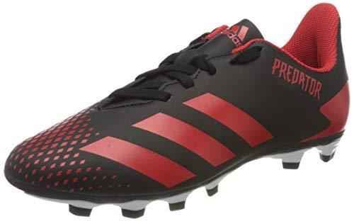 adidas Unisex Predator 20.4 FXG Fußballschuhe, Schwarz (Cblack/Actred/Cblack 000), 37 1/3 EU