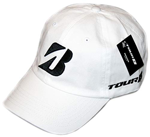 Bridgestone Unisex Tour Relax Adjustable Baseball Golf Cap WHITE
