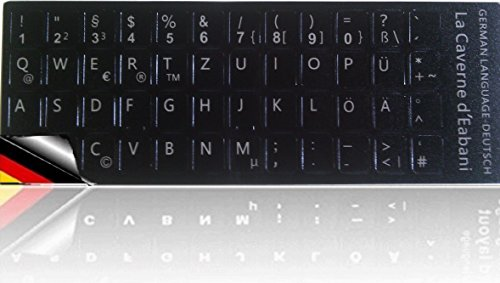 Tastatur Aufkleber Tastaturaufkleber Deutsch für Notebook