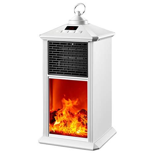 Aidasone elektrische verwarming - 800W draagbare open haard - 3D vlammeneffect - ruimteverwarming - winter-hangende decoratie 220 V verwarming/thermostaat/oververhittingsbeveiliging/afstandsbediening -17 * 17 * 35 cm