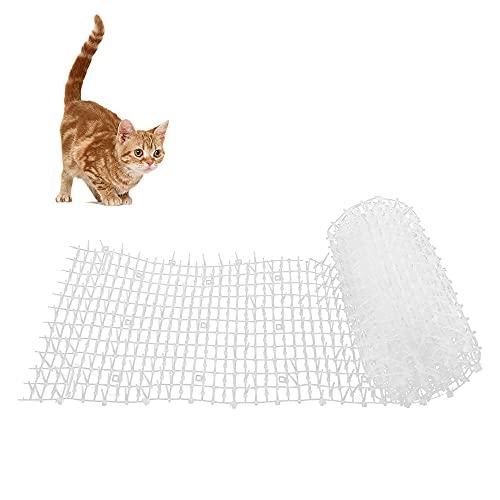 Maalr Tappetino Anti-Gatto, 200x30cm Tappetino Cat Scat Tappetino Deterrente per Cani con Picchi Rete Anti-Gatto Tappo di Scavo Strumenti di Protezione da Giardino Dispositivi Deterrenti (Bianca)
