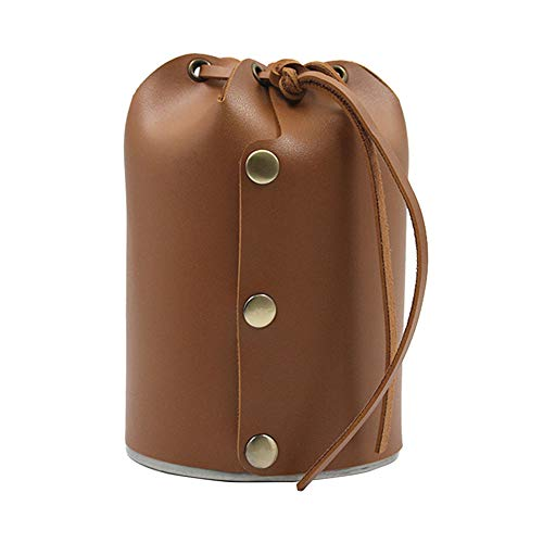 DHYED Funda de piel sintética para depósito de gas, para acampar, bolsa de almacenamiento de cilindro de combustible, duradera y práctica
