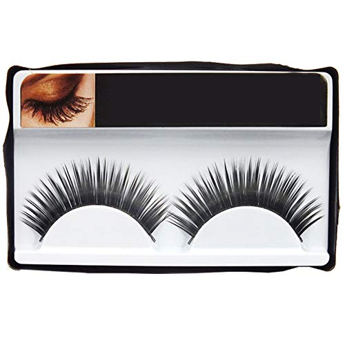 MoGist par boîte 1 Paire Total 10 boîtes False Eyelashes Noir Cils Noir Terrier Fait à la Main Long Dense Épais Natural Volumiser Volumineux Cute Maquillage Extension charmants Mode Multi-Pack
