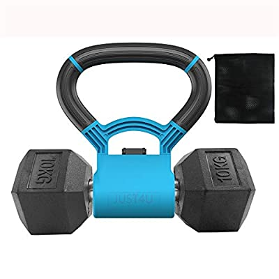 JustForU Kettlebell Grip for Dumbbells 2 Colors with Bag from Messon