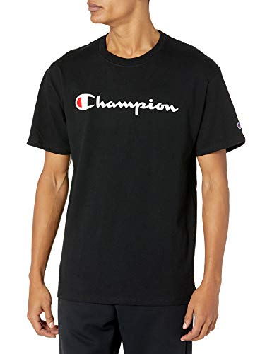 Champion Herren Graphic Jersey Tee T-Shirt, Schwarz/Schwarz, Klein