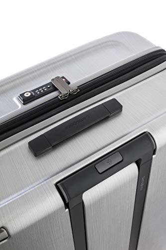 [サムソナイト]スーツケースキャリーケースエヴォアスピナー75保証付108L75cm5.2kgブラッシュドシルバー