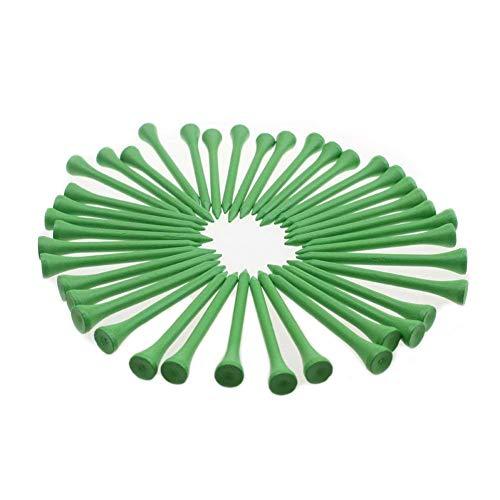 KOFULL Professionelle Golf-Tees, Holz, 70 mm, Deluxe-Holz-Tee, 100 Stück (grün)
