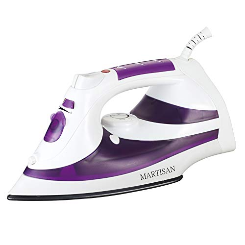MARTISAN Steam Iron, 1200W Non-Stick Soleplate Iron,Variable Temperature and Steam Control,...