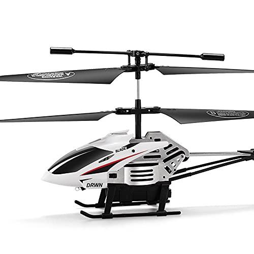 wangch Helicóptero de control remoto de 2.4G, luz LED de giroscopio incorporada, avión RC anticolisión y anticaída, caza de despegue con un botón, modelo de máquina de simulación, regalo de juguete pa