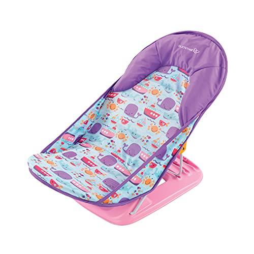 Summer Infant Bañera de lujo para bebés, buceo con delfines