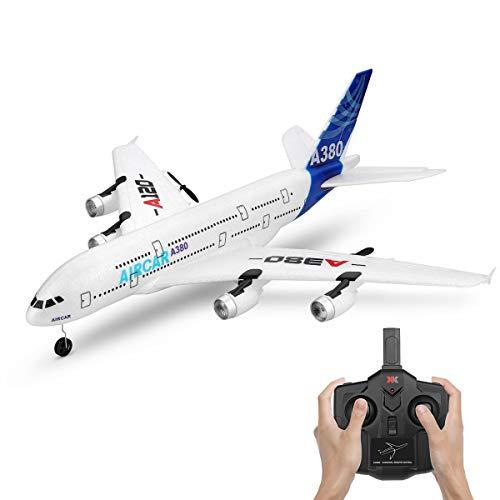 XIAOKEKE Avión De Control Remoto RC, Helicóptero De Control Remoto A120, Modelo De Planeador De 3 Canales, Juguete De Avión RC para Niños Adultos, Vuelo De Estabilidad, Avión RC