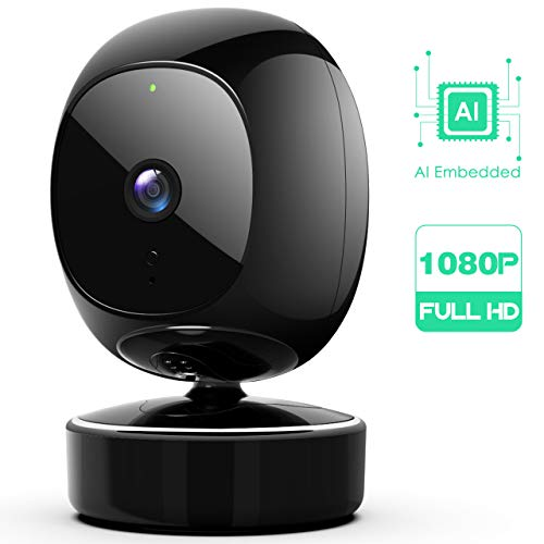 SimCam 1S Home Security Camera – AI 7/24 Indoor Security Camera, Facial Recognition, Person Detection & Pet/Vehicle RECG, 360° Pan/Tilt/Zoom for Auto-Tracking,No Lag, 2-Way Audio, Works with Alexa