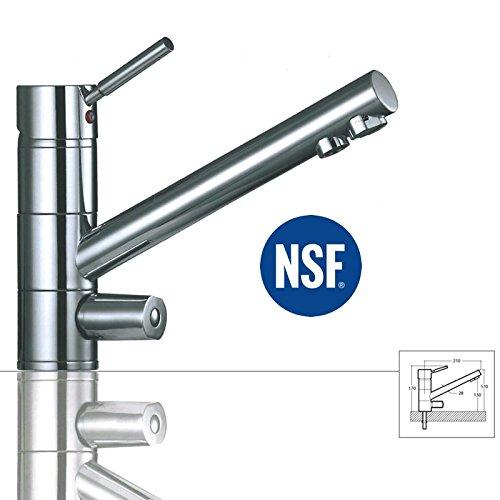 Puricom 3-Wege-Wasserhahn Saturn, Chrom für AMWAY eSpring Wasserfilter geeignet ! Küchenarmatur, Spültischarmatur, Mischbatterie, Dreiwege Wasserhahn