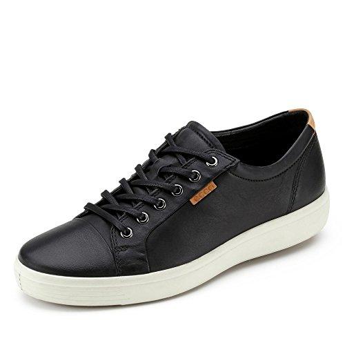 ECCO Herren Soft 7 Sneaker, Black, 45 EU