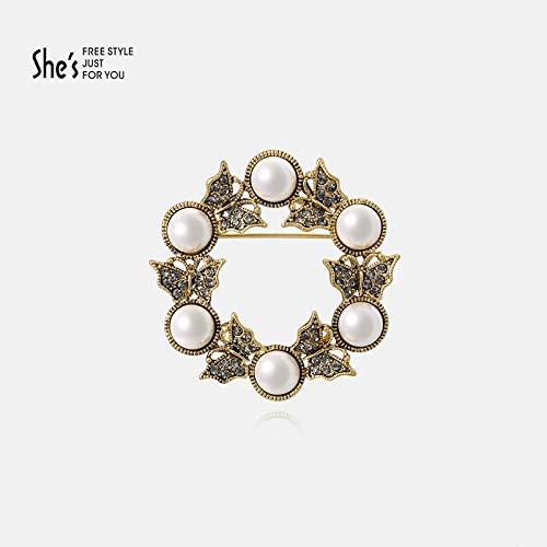 XIONGZ Dream Amant série élégante Broche rétro Perle d'imitation Broche Gilet Accessoires féminins Broche
