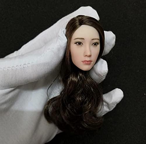 Sculpture De Tête De Teint Blanc Beauté De Célébrité Asiatique Féminine 1/6,pour Corps De Figurine d'action De 12 Pouces