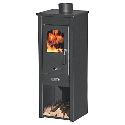 Stufa a legna 7kW antracite acciaio riscaldamento ambienti casa EKONOMIK LUX LM