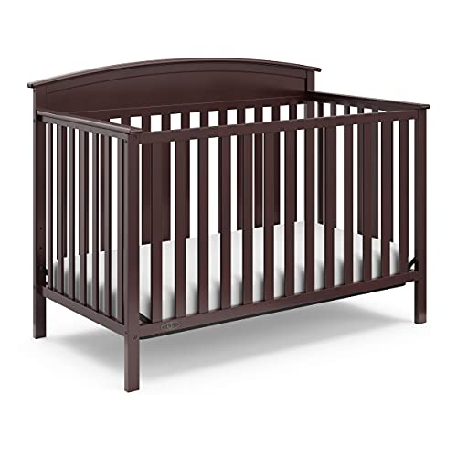 Graco Benton 4-in-1 Convertible Crib (Espresso) Solid Pine and Wood Product Construction, Converts to Toddler Bed, Day Bed, and Full Size Bed (Mattress Not Included)