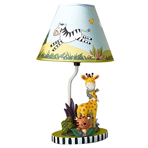 Fantasy Fields - Sunny Safari Animals Thematic Kids Table Lamp - Imagination Inspiring Hand Painted...