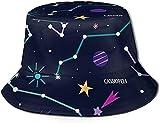 BONRI Sombrero de pescador para hombre, protección UV, para senderismo, pesca, diseño de ciervos extraños, bosque, bosque, bosque, constelación estrellada