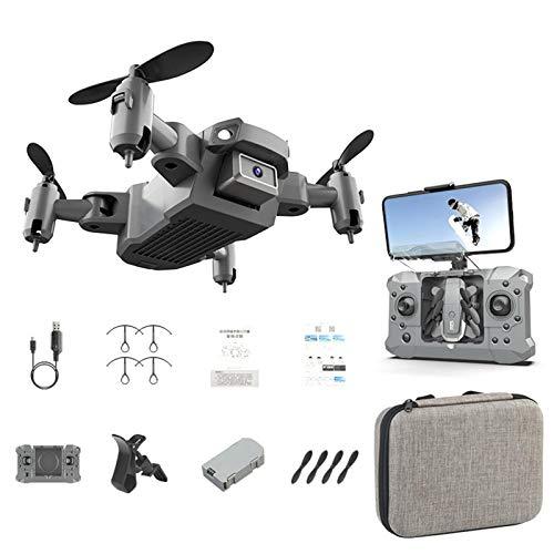 Telisii Mini Drone RC Quadcopter de Bolsillo Nano Plegable con cámara HD...