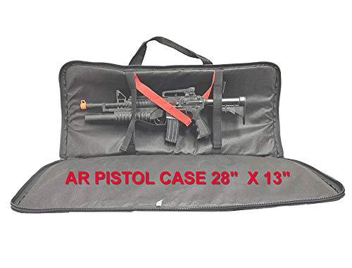 explorer gun cases Explorer American Classic Tactical 28 inch Long AR Rifle Pistol Gun Bag Firearm Transportation Case w/Shoulder Straps Lockable Zipper