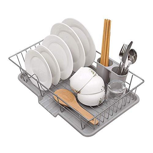 LLDKA Afvoer mand plank water controle keuken wastafel afvoer en zet een schotel rek wastafel metalen bestek opslag rack