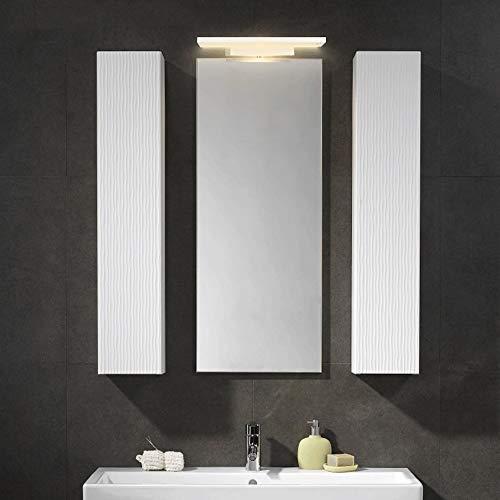14W LED Luces de Espejo 38 cm de baño Vanity Light Metal + Baño acrílico Linterna de Pared sobre Espejo Iluminación Lámpara de Espejo Cálido 3000K [Clase de energía A +++]