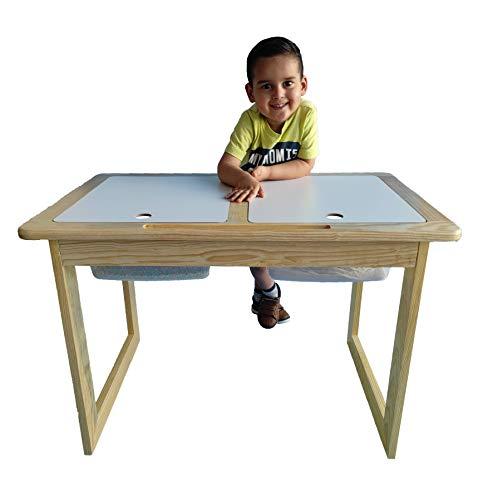 Namore Mesa Sensorial Montessori, Homeschool, Escuela en casa, Multifuncional, Mesa para niños, Hecho en méxico, Mesa para Jugar, Mesa para Aprender, Escritorio, Escritorio para...